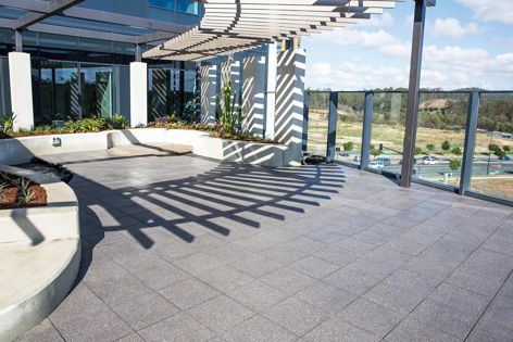 The Mater Private Hospital Springfield, where accessible roof areas were seen as an opportunity to enhance patient experience.
