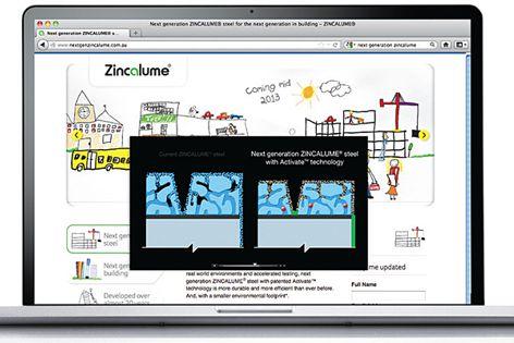 The online Zincalume steel video.