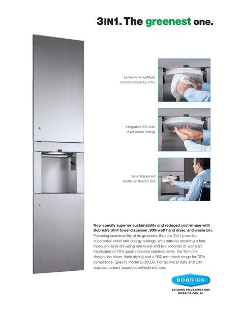 3IN1 washroom unit from Bobrick