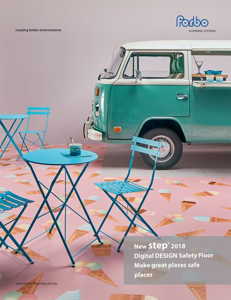 Step safety floor by Forbo
