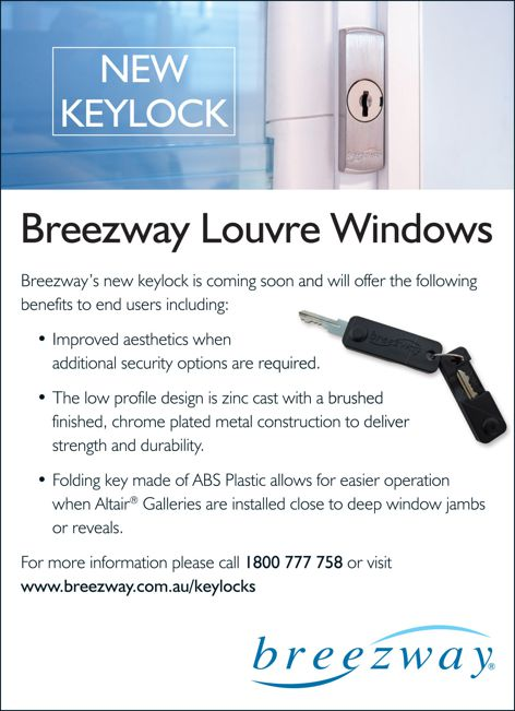 Keylock by Breezway Louvre Windows