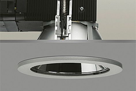 The Cruz LED downlight achieves IP54 with a specific attachment.