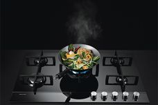 Fisher & Paykel's Gas on Glass cooktop