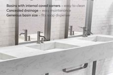 Corian multibasin washplanes from CASF
