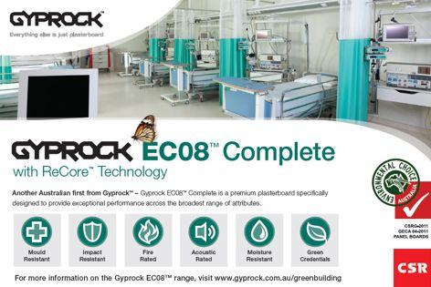 EC08 plasterboard by CSR Gyprock