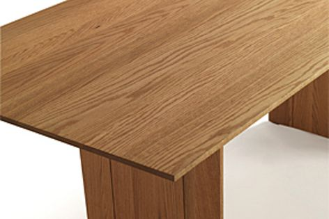 Designer Matteo Thun redesigned his Light table, shown here, using American red oak.