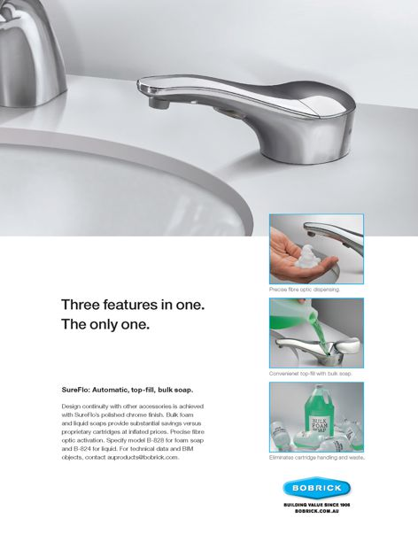 SureFlo soap dispenser from Bobrick
