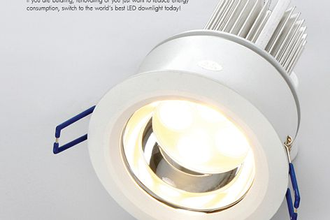 Save energy with Eco12 LED downlights
