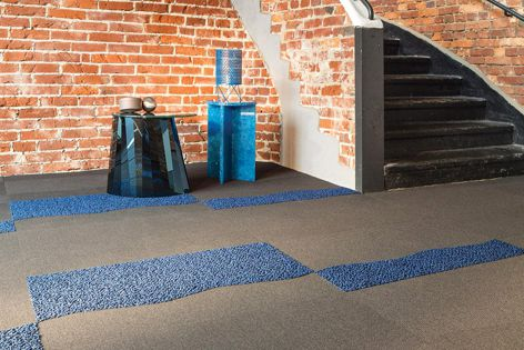 The shapes in the Mix Organic collection bring focus to the floor as the element of design