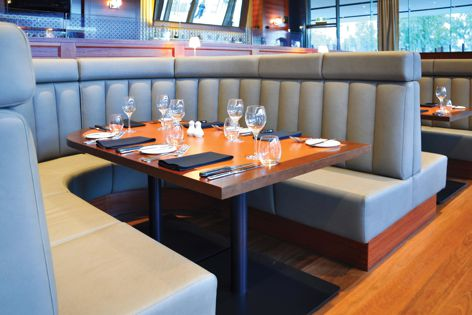 The Seatery custom designs upholstery for a diverse range of applications, including hospitality furniture.