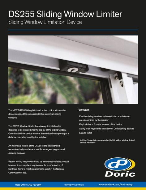 DS255 Sliding Window Limiter lock from Doric