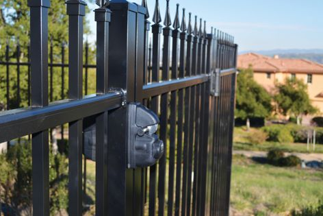 The Viper gravity latch from Safetech Hardware has an attractive yet rugged design and offers easy operation.