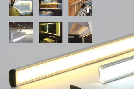 LED Turbostrip and mounting track
