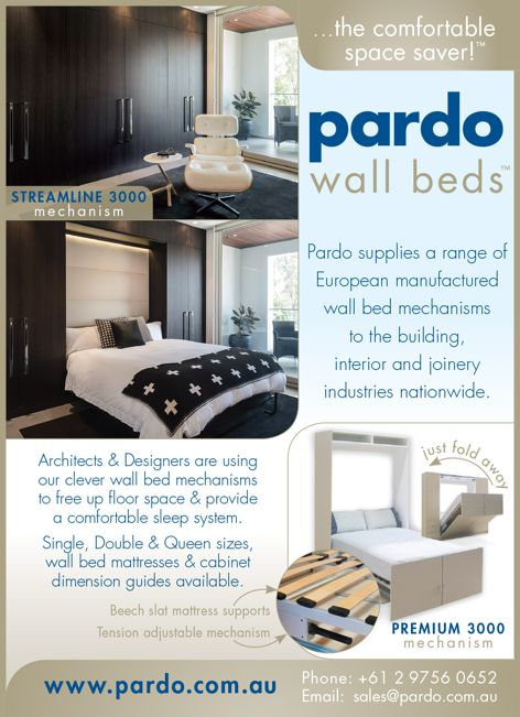 Wall bed mechanisms from Pardo