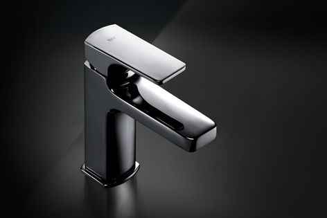 The Escuadra basin mixer is stylish and easy to clean.