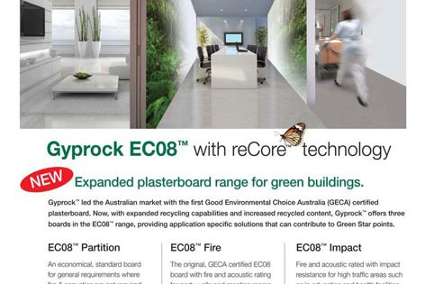 Gyprock EC08 with reCore technology