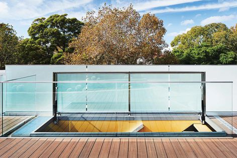 An installation of a customizable roof access skylight from Tilt, shown on location in Surry Hills, New South Wales.
