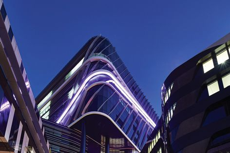 Gerard Lighting delivered the lighting for the Victorian Comprehensive Cancer Centre. Photography: Peter Bennetts.