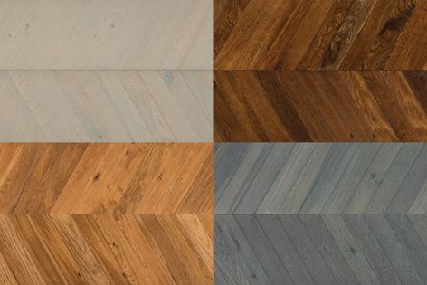 The planks are available in four contemporary shades.