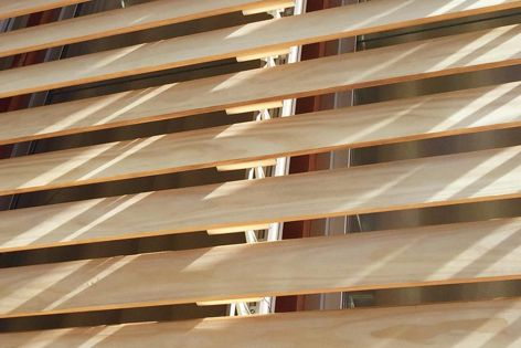 The timber used for Horiso's external shading systems is obtained from sustainable sources.