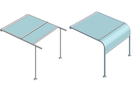 P40 is a large spanning pergola awning.