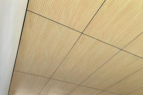 FireHoop is available in a range of acoustic perforation patterns.