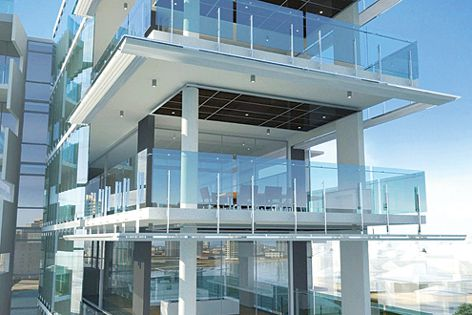Aquila project, designed by Plazibat and Jemmott, features Thumps X1 series balustrade system.