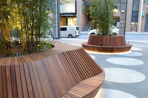 Custom planter seating by Mos Urban