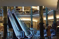 Fall protection for escalators