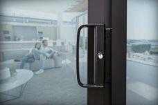 The stylish D-Handle sliding door lock module