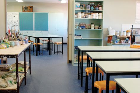 Altro safety flooring is suitable for the tough school environment.