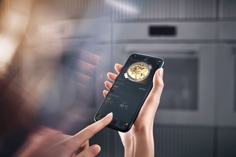 Thanks to a camera in the oven, you can monitor your food via your device.