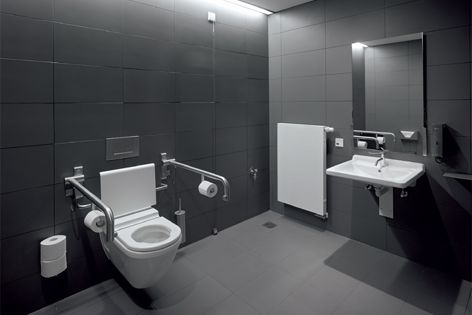 Bathroom furniture from Duravit was specified for the dramatic BMW Welt building in Munich.