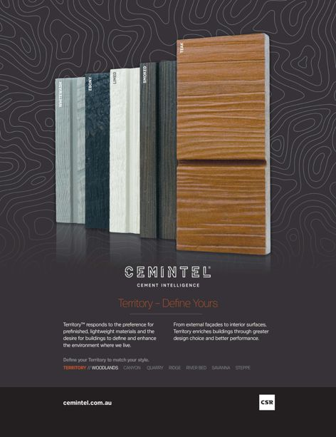 Territory cement intelligence by Cemintel