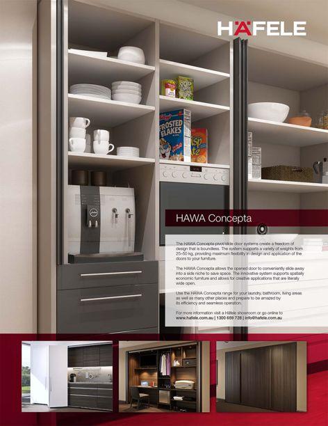 HAWA Concepta door systems by Häfele