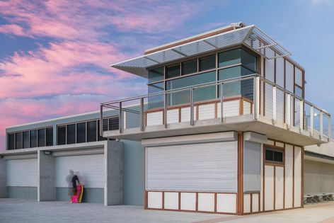 Birubi Point Surf Life Saving Club in NSW features shutters from Blockout Shutters. Architect: EJE Architecture.