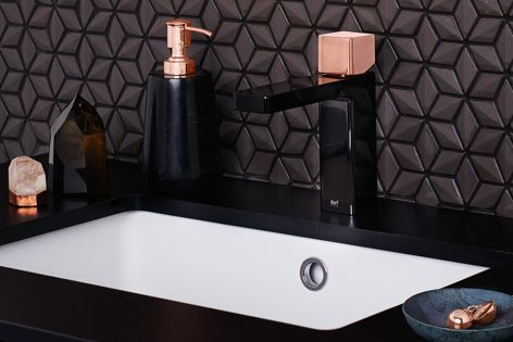 Epic Bloc Mixers are designed to appear like jewellery for the bathroom.