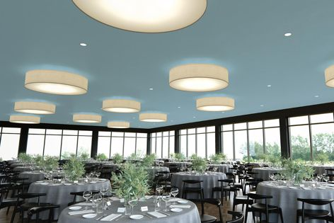 Ensemble is an award-winning acoustical plasterboard ceiling system.