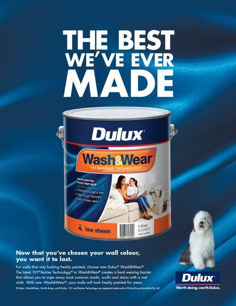 Wash & Wear low-sheen paint by Dulux