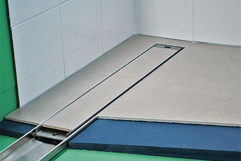 This tile insert model, pictured, has been added to the existing and new Lowline range of channels.