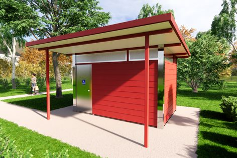 Australian-made Eureka modular restrooms