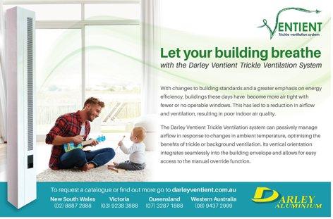 Ventient ventilation by Darley Aluminium