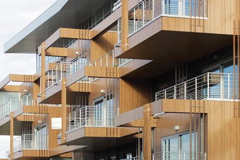 Innovative facade designs can be achieved with the Wood Decor range from HVG Facade Solutions.
