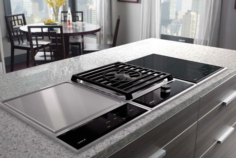 Module cooktops by Wolf have an adaptable, streamlined design.