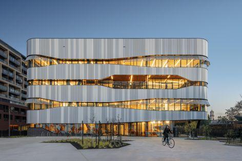 Richmond High School in Victoria features COLORBOND® steel Matt. Photography by Jon Marmaras.