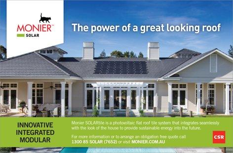 Monier SOLARTile from CSR Bricks & Roofing
