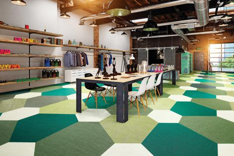 The Versatile shapes range is the latest expansion to the ntgrate premium woven vinyl flooring range from GEO Flooring.