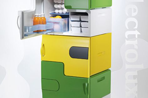 Stefan Buchberger won the Electrolux Design Lab 2008 with Flatshare modular fridge for share houses.