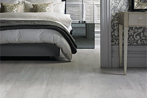 The Van Gogh range from Karndean offers contemporary colours, such as the White Washed Oak, shown.