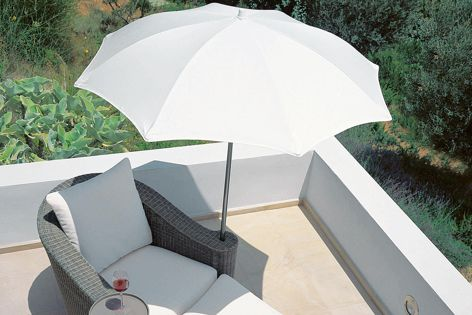 Sunbrella fabrics are suitable for a range of applications, including shade solutions.